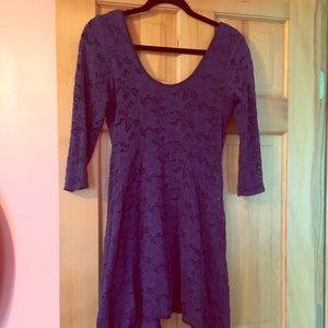 Free People 3/4 Sleeve Lace Dress